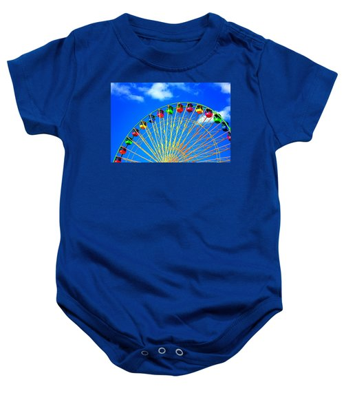 Colorful Ferris Wheel Baby Onesie