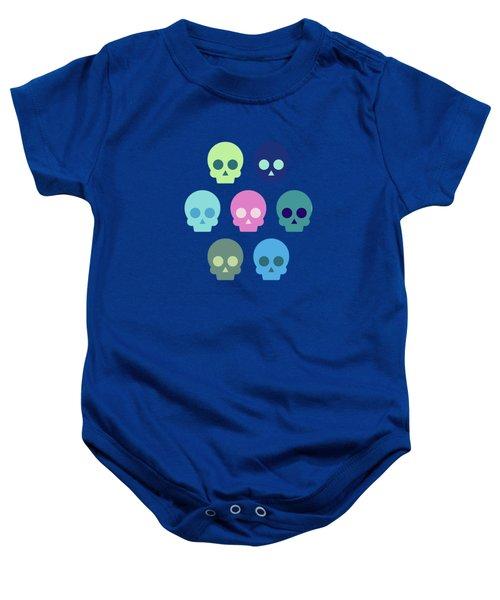 Colorful Skull Cute Pattern Baby Onesie