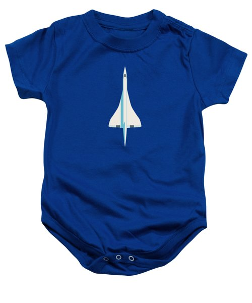 Concorde Jet Airliner - Blue Baby Onesie
