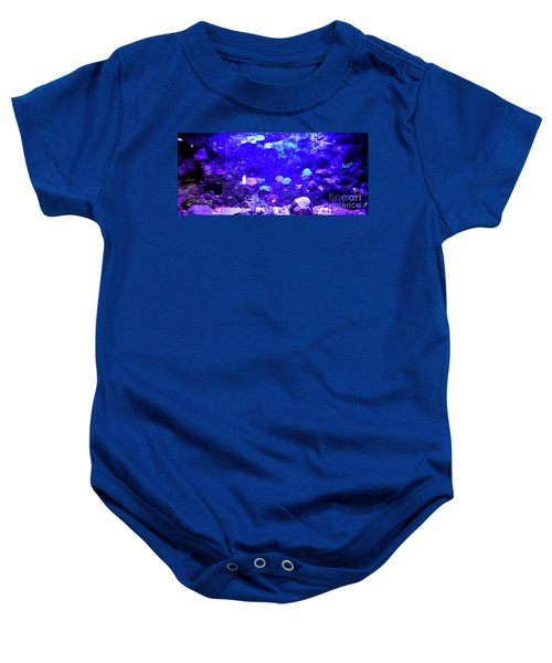 Baby Onesie featuring the digital art Coral Art 2 by Francesca Mackenney