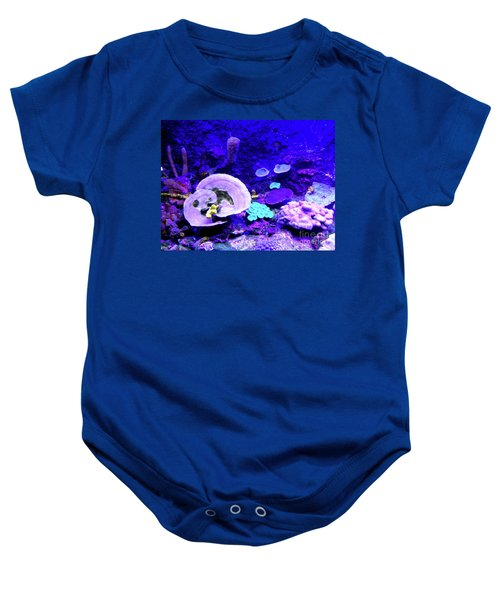 Baby Onesie featuring the digital art Coral Art by Francesca Mackenney