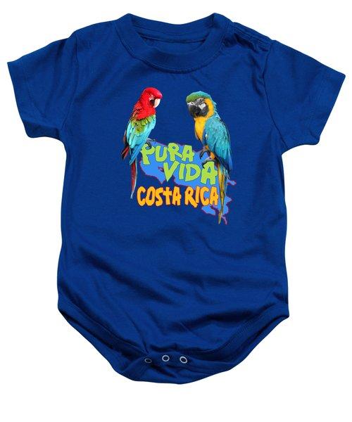 Costa Rican Macaws Baby Onesie by Linda Bissett