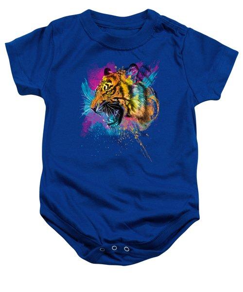 Crazy Tiger Baby Onesie by Olga Shvartsur