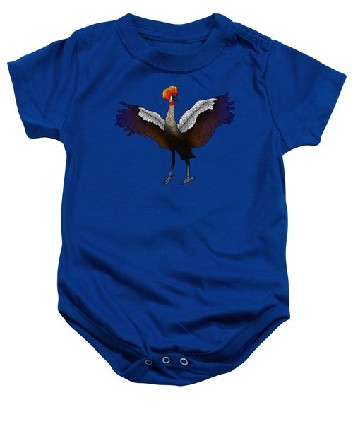 Crowned Crane Baby Onesie by Dusty Conley