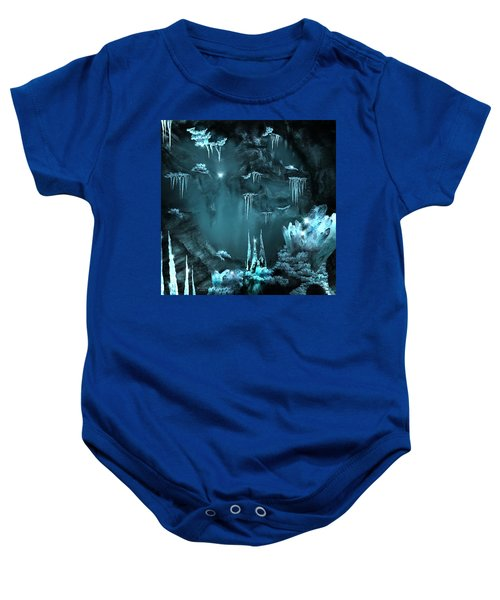Crystal Cave Mystery Baby Onesie