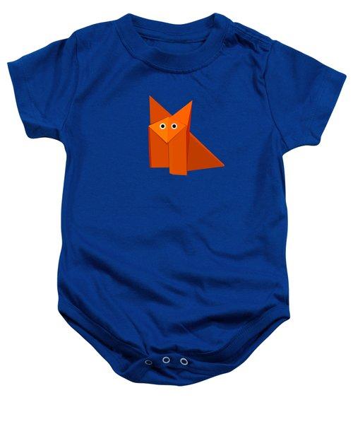 Cute Origami Fox Baby Onesie