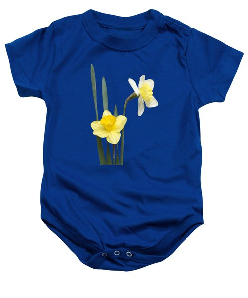 Daffodil Pair - Transparent Baby Onesie