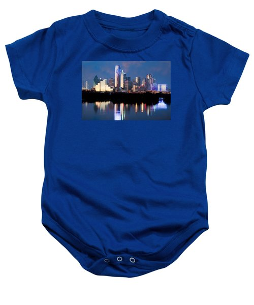 Dallas Skyline May 2015 Baby Onesie
