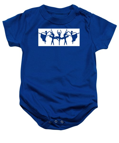 Dancing Silhouettes  Baby Onesie