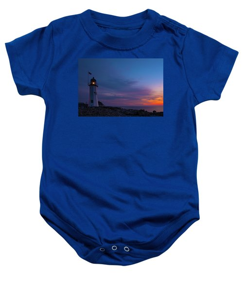 Dawn At Scituate Light Baby Onesie