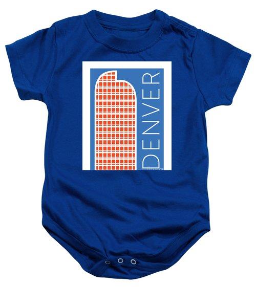 Denver Cash Register Bldg/blue Baby Onesie