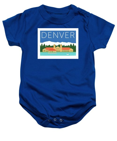Denver City Park/blue Baby Onesie