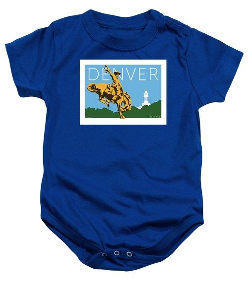 Denver Cowboy/sky Blue Baby Onesie