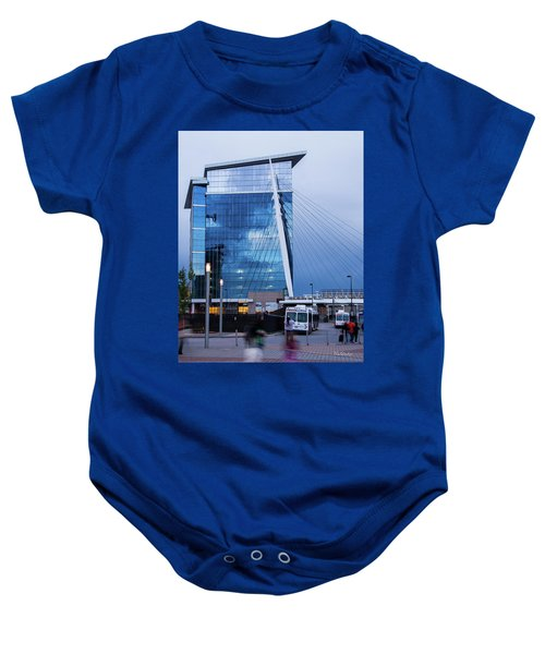 Denver Union Station And Milennium Bridge Baby Onesie