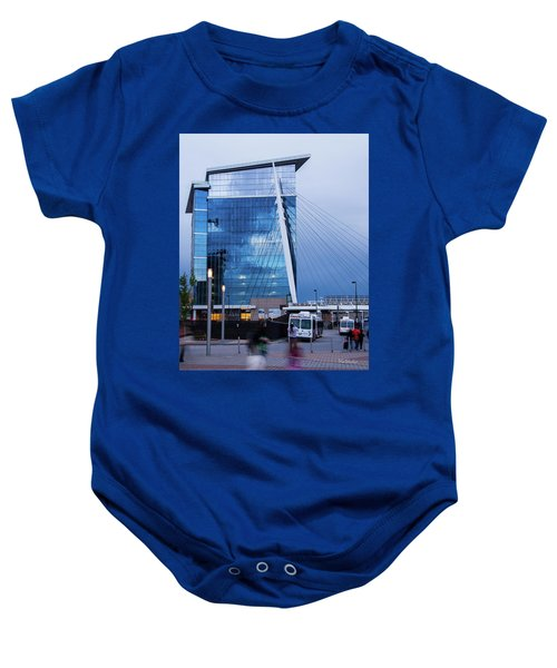 Denver Union Station And Milennium Bridge Baby Onesie