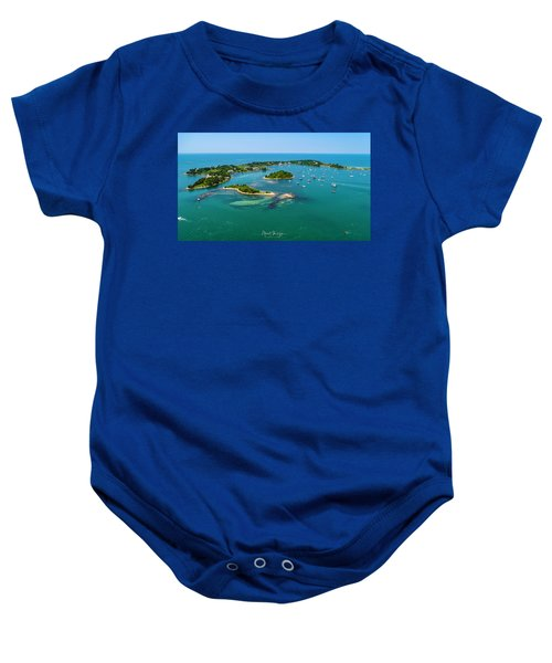 Devils Foot Island Baby Onesie