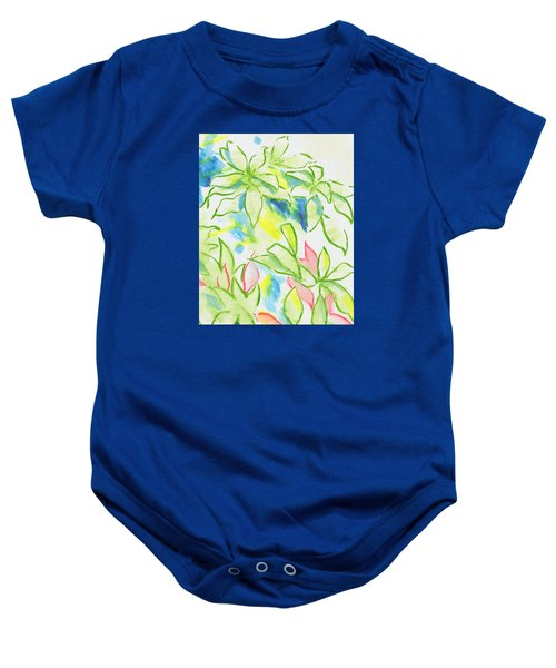Different Coloured Hydrangea Leaves - Green Red Yellow Baby Onesie