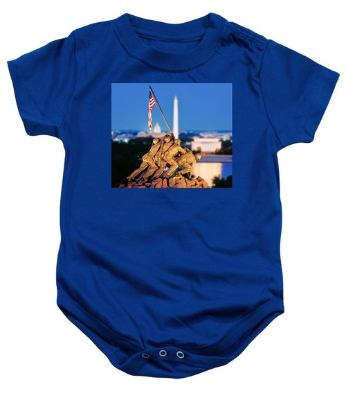 Digital Composite, Iwo Jima Memorial Baby Onesie
