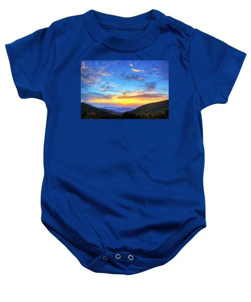 Digital Liquid - Good Morning Virginia Baby Onesie