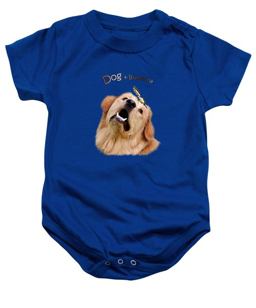 Dog And Butterfly Baby Onesie