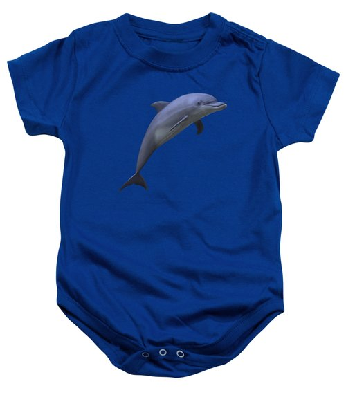Dolphin In Ocean Blue Baby Onesie by Movie Poster Prints