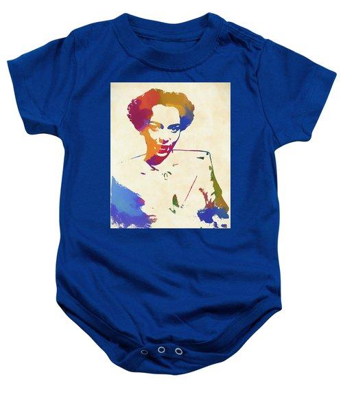 Dorothy Dandridge Watercolor Baby Onesie