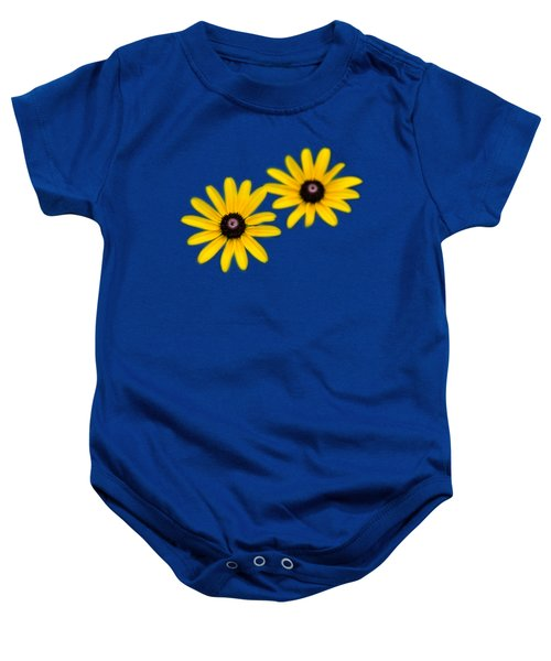 Baby Onesie featuring the photograph Double Daisies by Christina Rollo