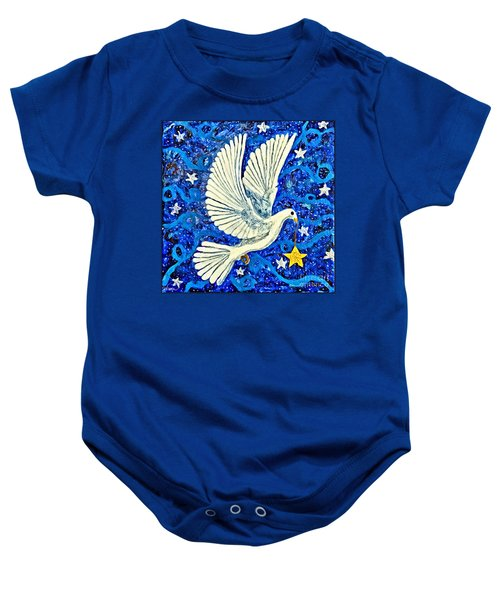 Dove With Star Baby Onesie