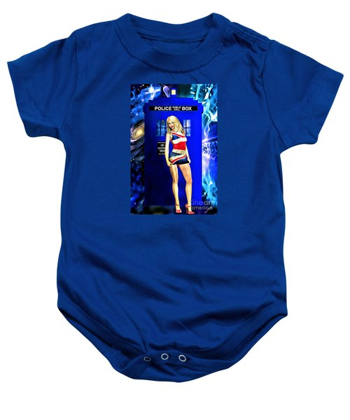 Doctor Who - Tardis And Rose Tyler Baby Onesie