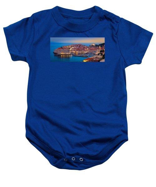 Dubrovnik Twilight Panorama Baby Onesie