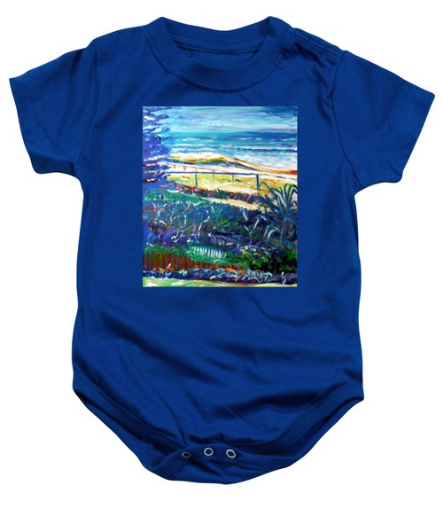 Baby Onesie featuring the painting Dune Grasses by Winsome Gunning