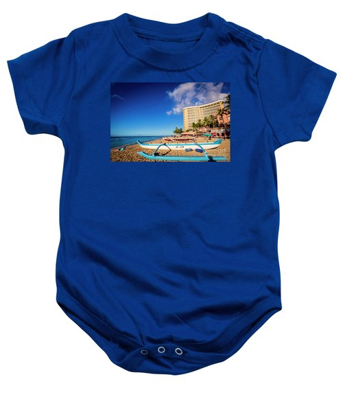 Early Morning At Outrigger Beach,hawaii Baby Onesie