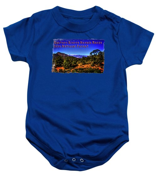 Eastern Sierras From The White Mountains Baby Onesie