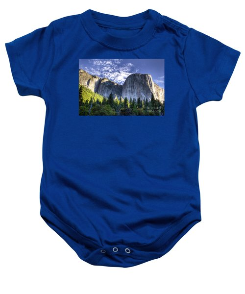 Baby Onesie featuring the photograph El Capitan  by Vincent Bonafede