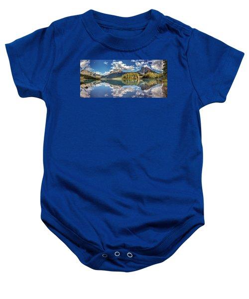 Emerald Lake Panorama Baby Onesie