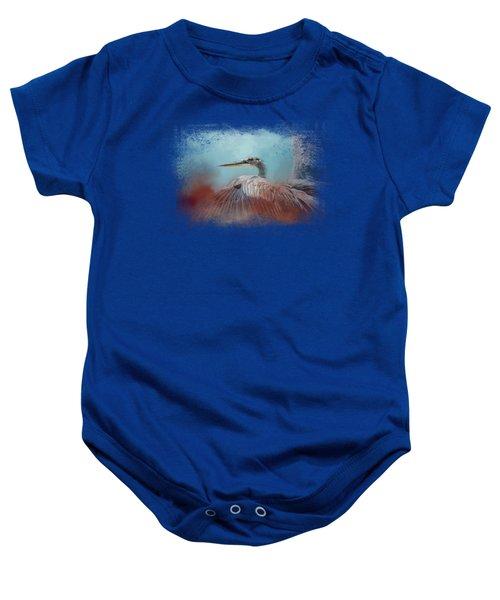 Emerging Heron Baby Onesie