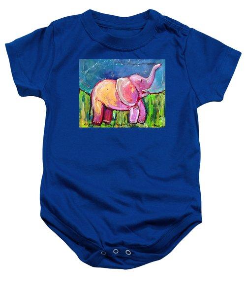 Emily's Elephant 2 Baby Onesie