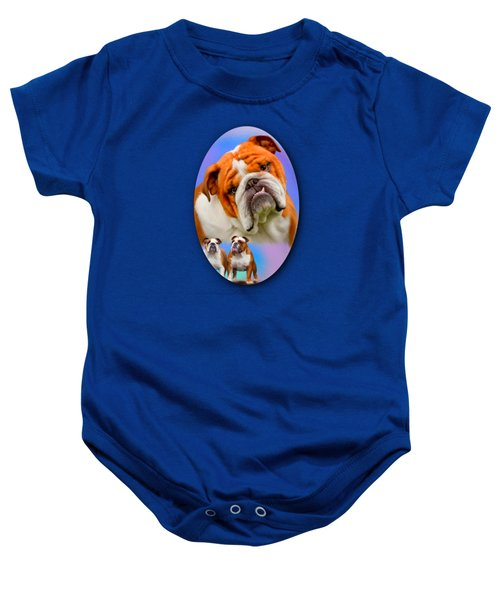 English Bulldog- No Border Baby Onesie
