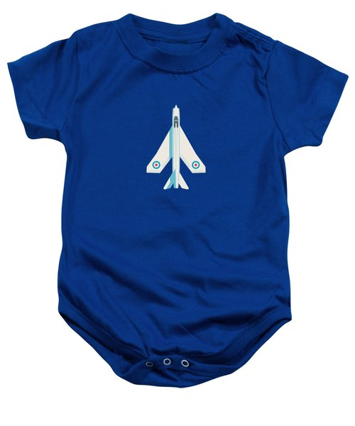 English Electric Lightning Fighter Jet Aircraft - Slate Baby Onesie