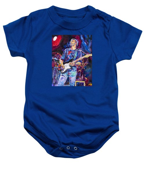 Eric Clapton And Blackie Baby Onesie by David Lloyd Glover