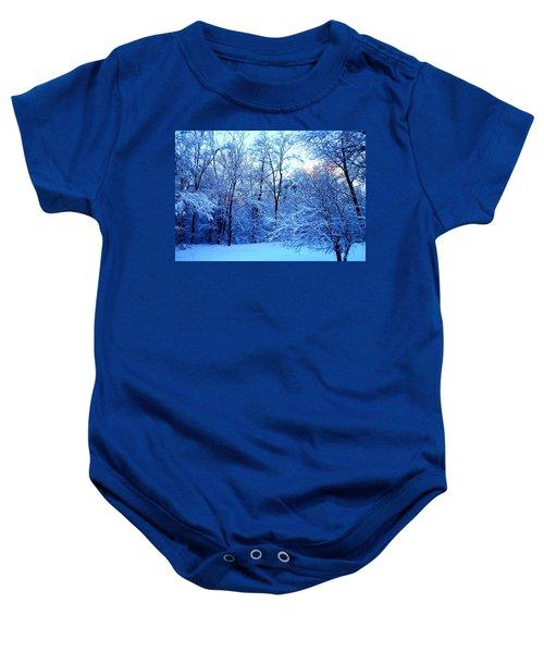 Ethereal Snow Baby Onesie