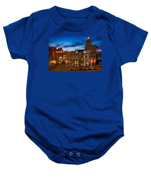 Evening At Pabst Baby Onesie by Bill Pevlor