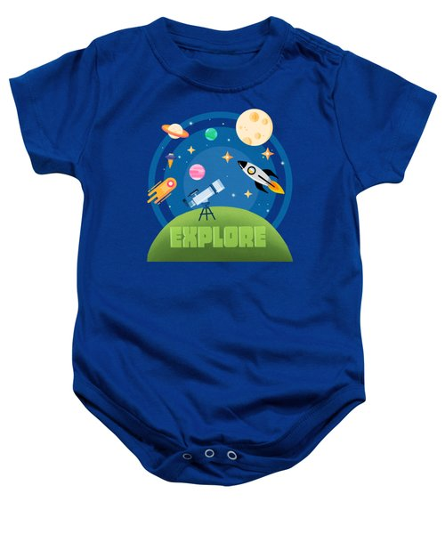 Explore Space Baby Onesie