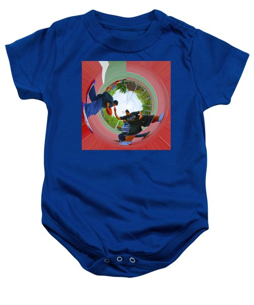 Extreme Pick Up Basketball Baby Onesie