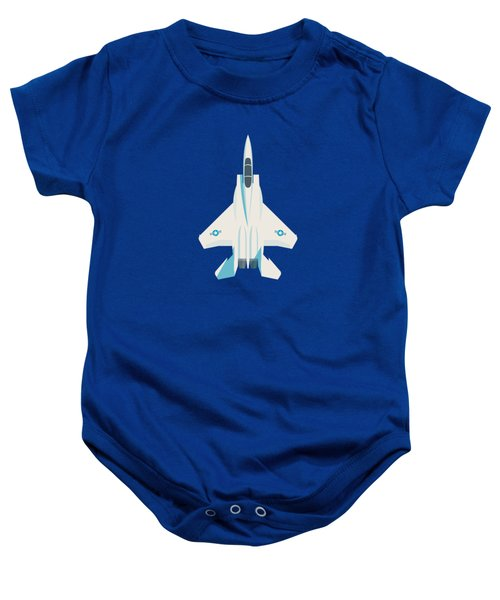 F15 Eagle Us Air Force Fighter Jet Aircraft - Slate Baby Onesie
