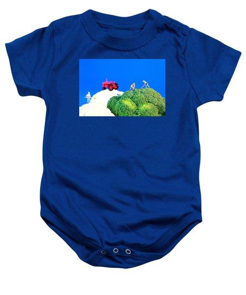 Farming On Broccoli And Cauliflower II Baby Onesie