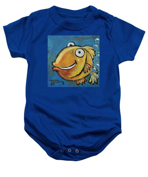Farting Fish Baby Onesie