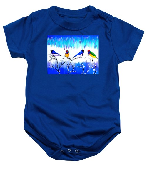 Finches Baby Onesie by Cathy Jacobs