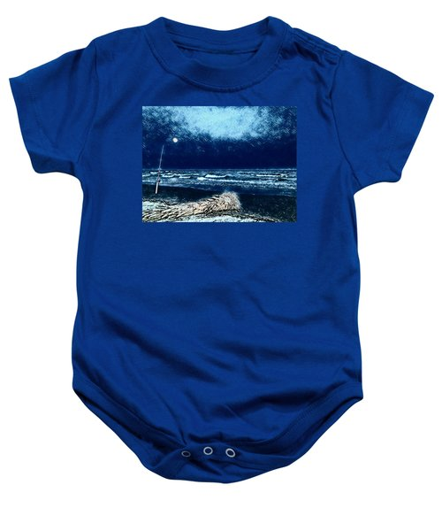 Fishing For The Moon Baby Onesie
