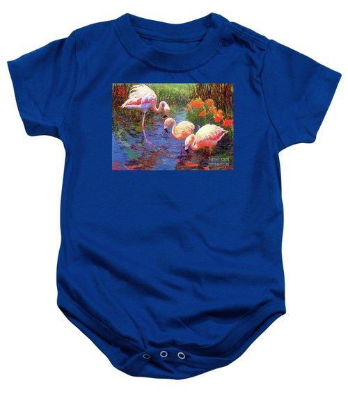 Flamingo Tangerine Dream Baby Onesie